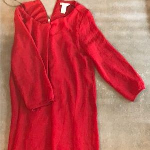 Red dress loose and flowy H&M